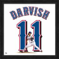 Texas Rangers Yu Darvish Uniframe Framed Jersey Photo