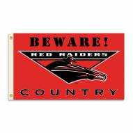 Texas Tech Red Raiders 3' x 5' Beware Flag