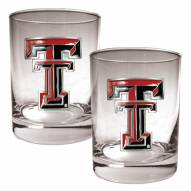 Texas Tech Red Raiders College 2-Piece 14 Oz. Rocks Glass Set