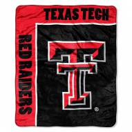 Texas Tech Red Raiders Jersey Mesh Raschel Throw Blanket