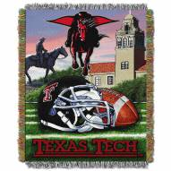 Texas Tech Red Raiders NCAA Woven Tapestry Throw / Blanket