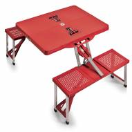 Texas Tech Red Raiders Red Folding Picnic Table