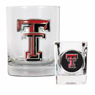 Texas Tech Red Raiders Rocks Glass & Shot Glass Set
