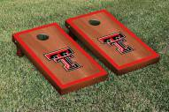 Texas Tech Red Raiders Rosewood Stained Border Cornhole Game Set