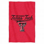 Texas Tech Red Raiders Script Sweatshirt Throw Blanket