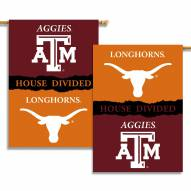 Texas/Texas A&M 2-Sided House Divided Banner