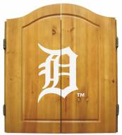 Detroit Tigers MLB Complete Dart Board Cabinet Set (w/ darts & flights)