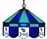 """Tennessee Titans NFL Team 16"""" Diameter Stained Glass Pub Light"""