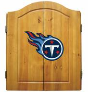 Tennessee Titans NFL Complete Dart Board Cabinet Set (w/darts & flights)