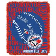 Toronto Blue Jays Double Play Jacquard Throw Blanket