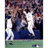 "Toronto Blue Jays Joe Carter ""WS HR Celebration"" Signed 16"" x 20"" Photo"
