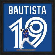 Toronto Blue Jays Jose Bautista MLB Uniframe Framed Jersey Photo