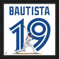 Toronto Blue Jays Jose Bautista Uniframe Framed Jersey Photo