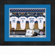 Toronto Blue Jays Personalized Locker Room 13 x 16 Framed Photograph