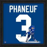 Toronto Maple leafs Dion Phaneuf Uniframe Framed Jersey Photo