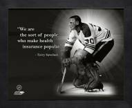 Toronto Maple leafs Terry Sawchuk Framed Pro Quote