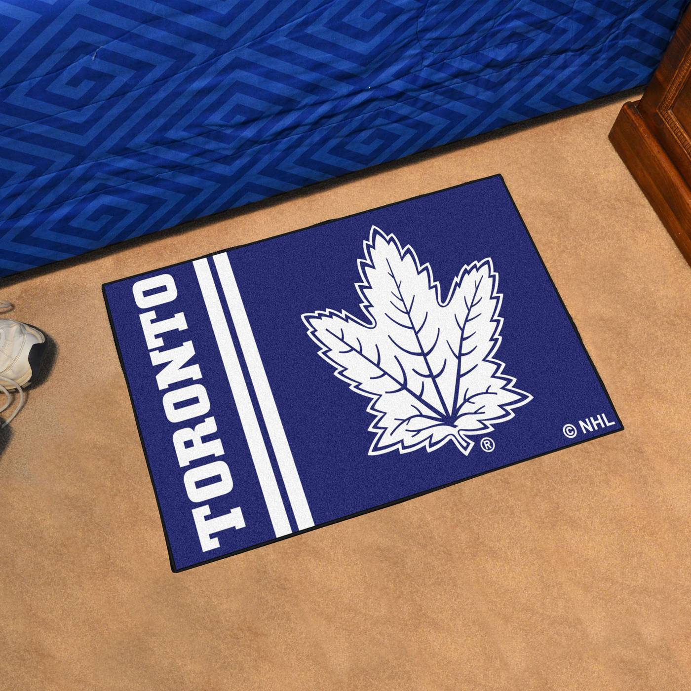 Toronto Maple Leafs Uniform Inspired Starter Rug