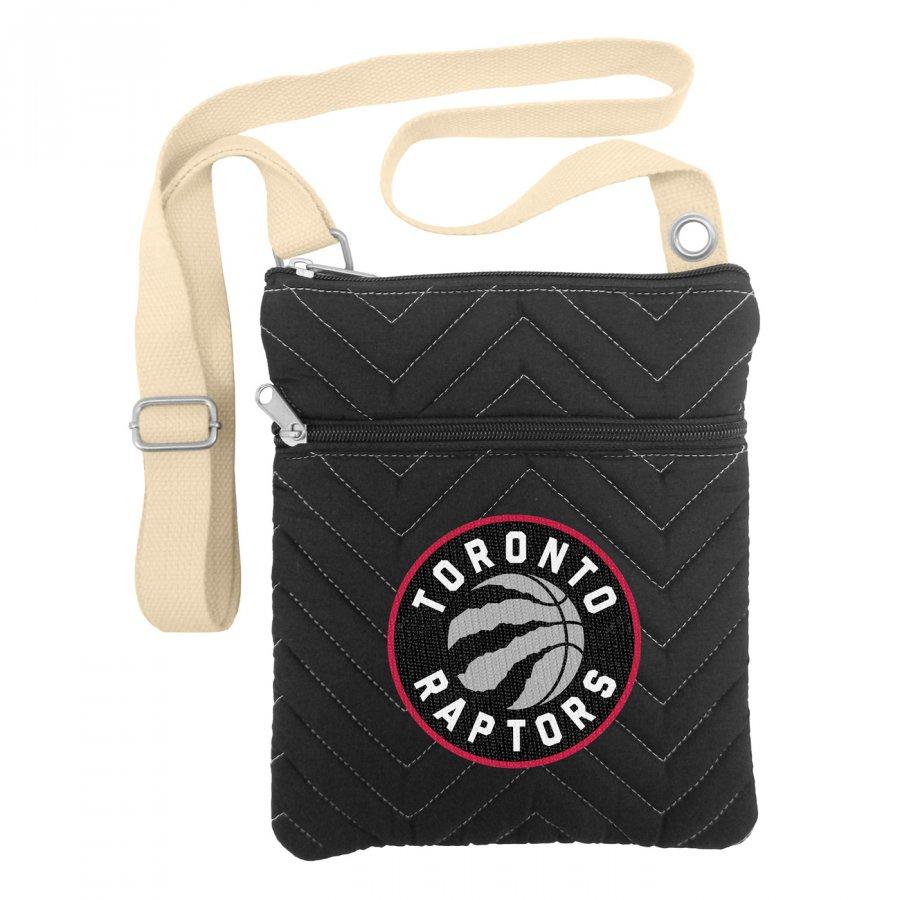 Toronto Raptors Chevron Stitch Crossbody Bag