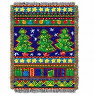 Tree Festivity Throw Blanket