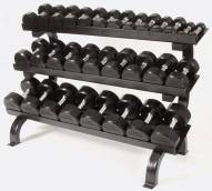 Troy Barbell Rubber Encased Dumbbell With Rack Set