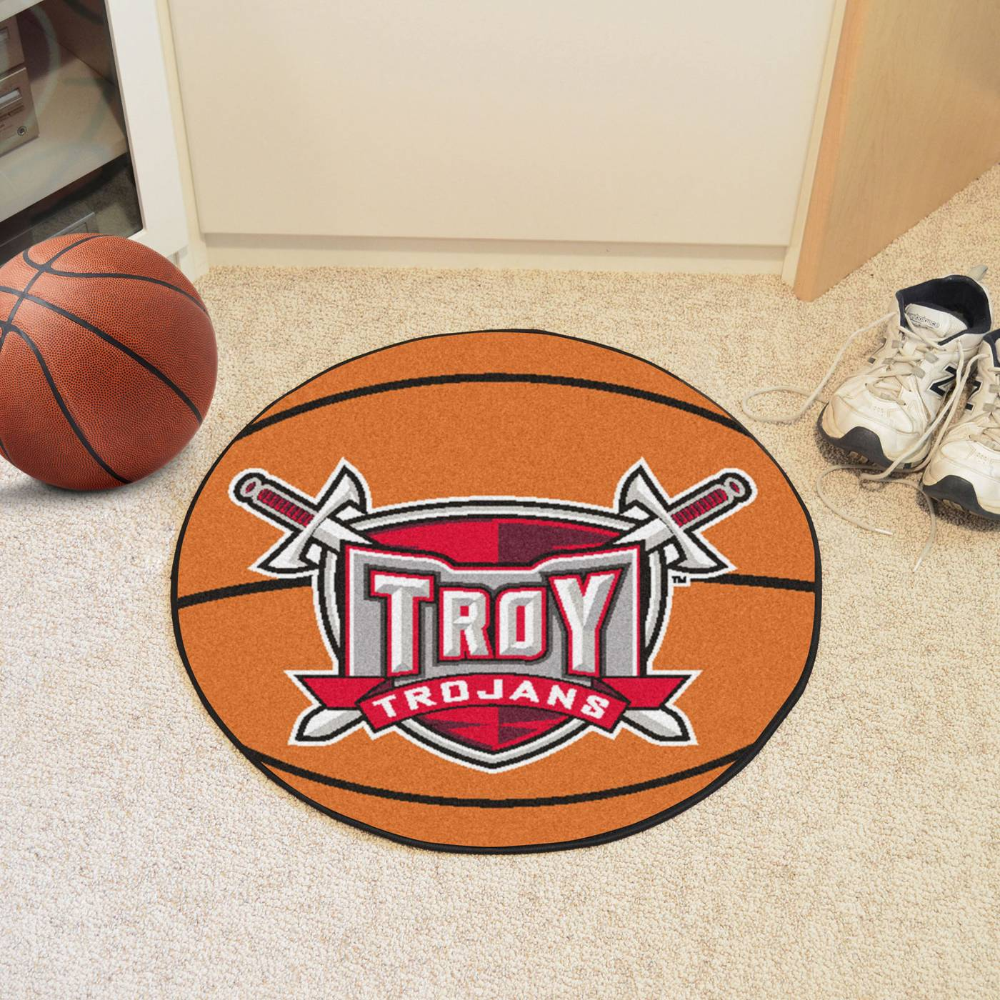 Troy Trojans Basketball Mat