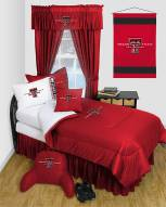 Texas Tech Red Raiders Jersey Comforter & Sheet Complete Bedding Set