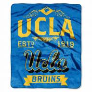 UCLA Bruins Label Raschel Throw Blanket