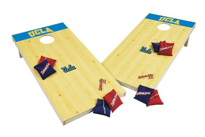 the ucla bruins ncaa xl bean bag toss corn hole game is the new regulation sized bean bag toss game this extralarge sized toss game is made of all wood - Bean Bag Toss