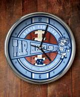 UNC Tarheels NCAA Chrome Wall Clock