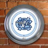 UNC Tarheels NCAA Neon Wall Clock