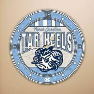 UNC Tarheels NCAA Stained Glass Wall Clock