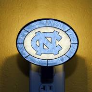 North Carolina Tarheels NCAA Stained Glass Night Light