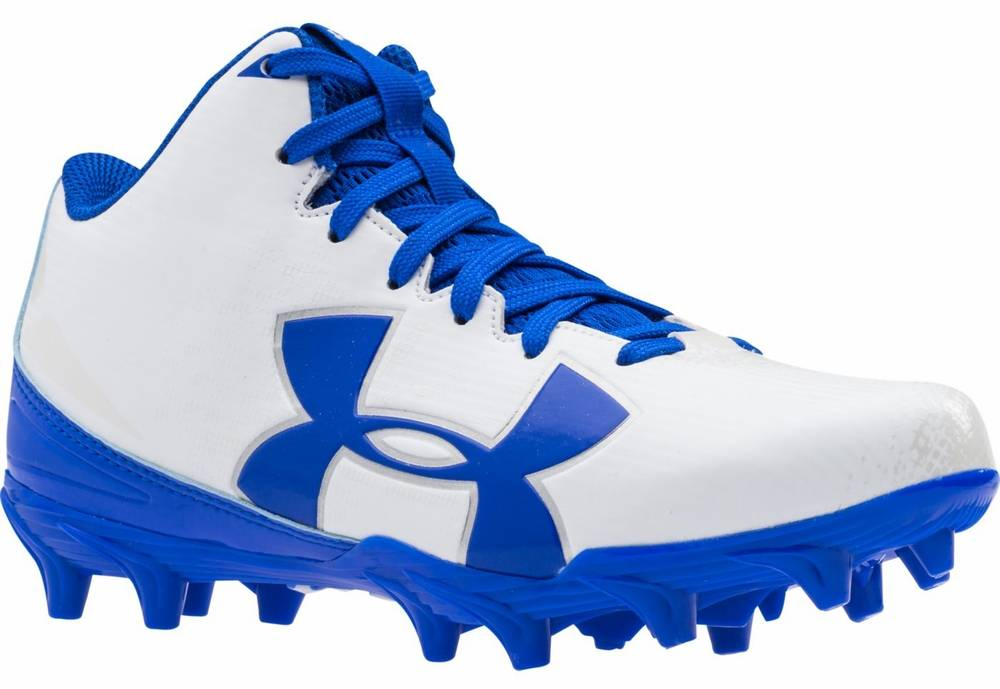 blue under armour football cleats