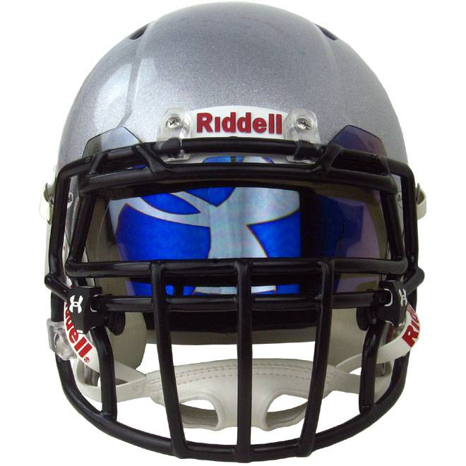 Football Visors For Helmets : Under armour hologram football visor blue mirror