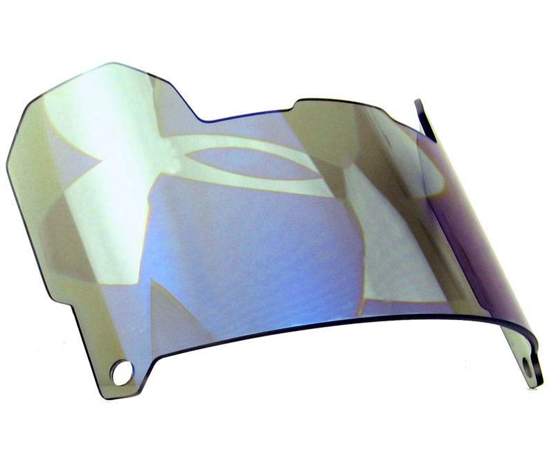 Under armour hologram football visor blue mirror for Mirror visor