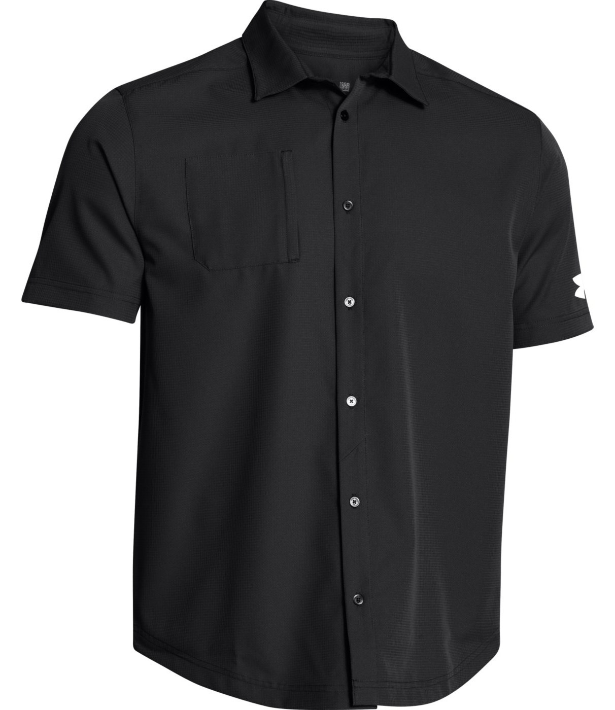 Under armour ultimate men 39 s button down short sleeve shirt for Button down shirts for short men