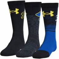 Under Armour Youth Phenom Curry Basketball Crew Socks - 3 Pack