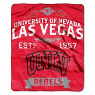 UNLV Rebels NCAA Label Raschel Throw Blanket