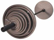 USA Sports 300lb Gray Olympic Weight Set with Bar