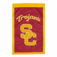 "USC Trojans 28"" x 44"" Double Sided Applique Flag"
