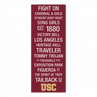 USC Trojans Canvas Color Subway Art