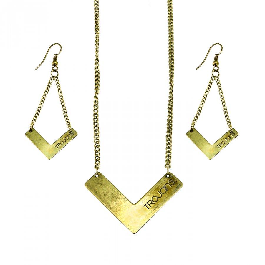 USC Trojans Chevron Jewelry Set