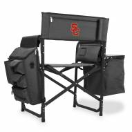 USC Trojans Gray/Black Fusion Folding Chair