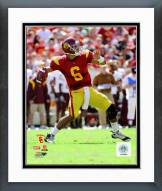 USC Trojans Mark Sanchez 2008 Action Framed Photo
