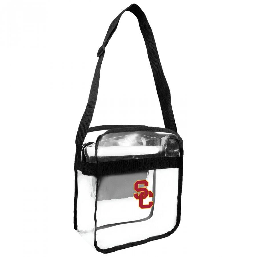 USC Trojans NCAA Clear Crossbody Carry-All Bag