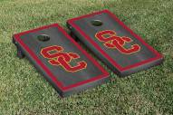 USC Trojans Onyx Stained Border Cornhole Game Set