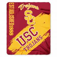 USC Trojans Painted Fleece Blanket