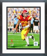 USC Trojans Rey Maualuga 2008 Action Framed Photo