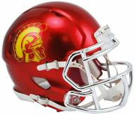USC Trojans Riddell Speed Mini Replica Chrome Football Helmet