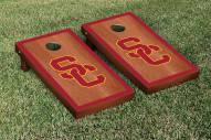 USC Trojans Rosewood Stained Border Cornhole Game Set